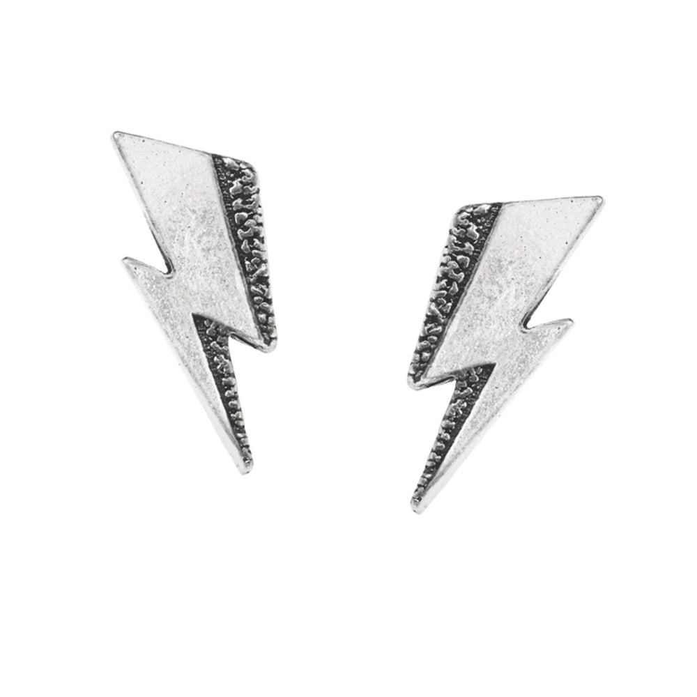 David Bowie: Flash Studs Lightning Bolt Earrings by Alchemy Gothic