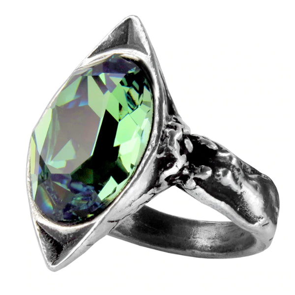 Absinthe Fairy Spirit Green Crystal Ring by Alchemy Gothic