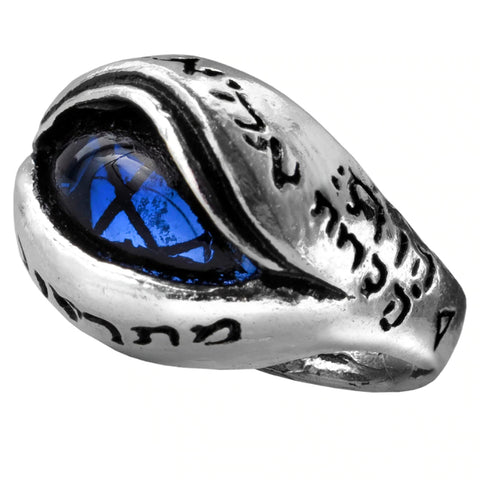 Angel's Eye Blue Crystal Ring by Alchemy Gothic