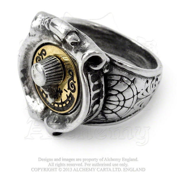 GMT Feromonic Field Detector Ring by Alchemy Gothic