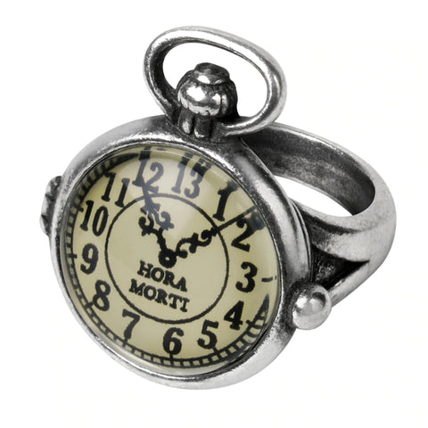 Uncle Albert's Time Piece Steampunk Watch Face Ring by Alchemy Gothic