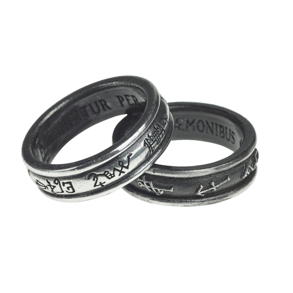 Demon Black & Angel White Ring - Alchemy Gothic Stackable Matching Ringbands