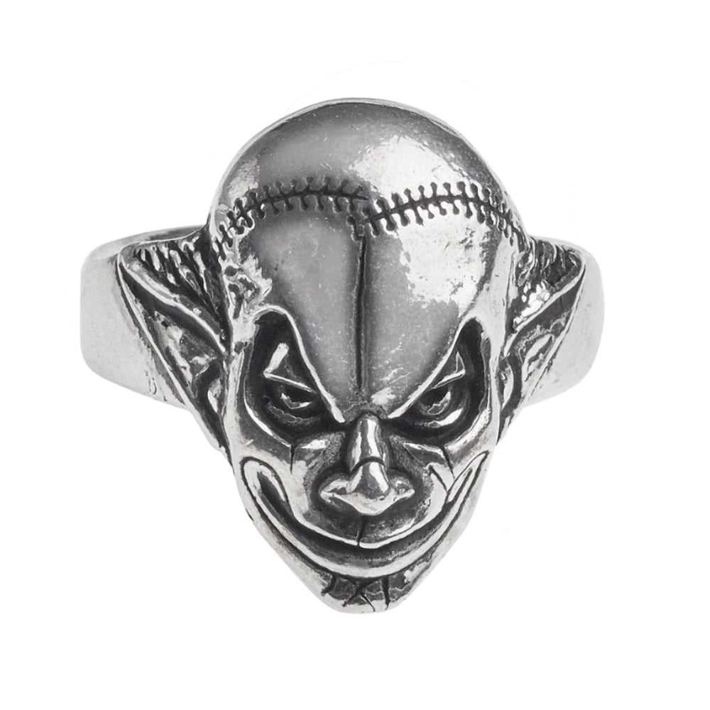 M'era Luna Evil Clown Face Ring by Alchemy Gothic