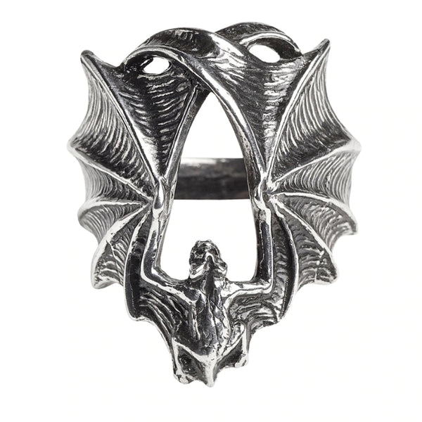 Stealth Bat Wing Ring by Alchemy Gothic