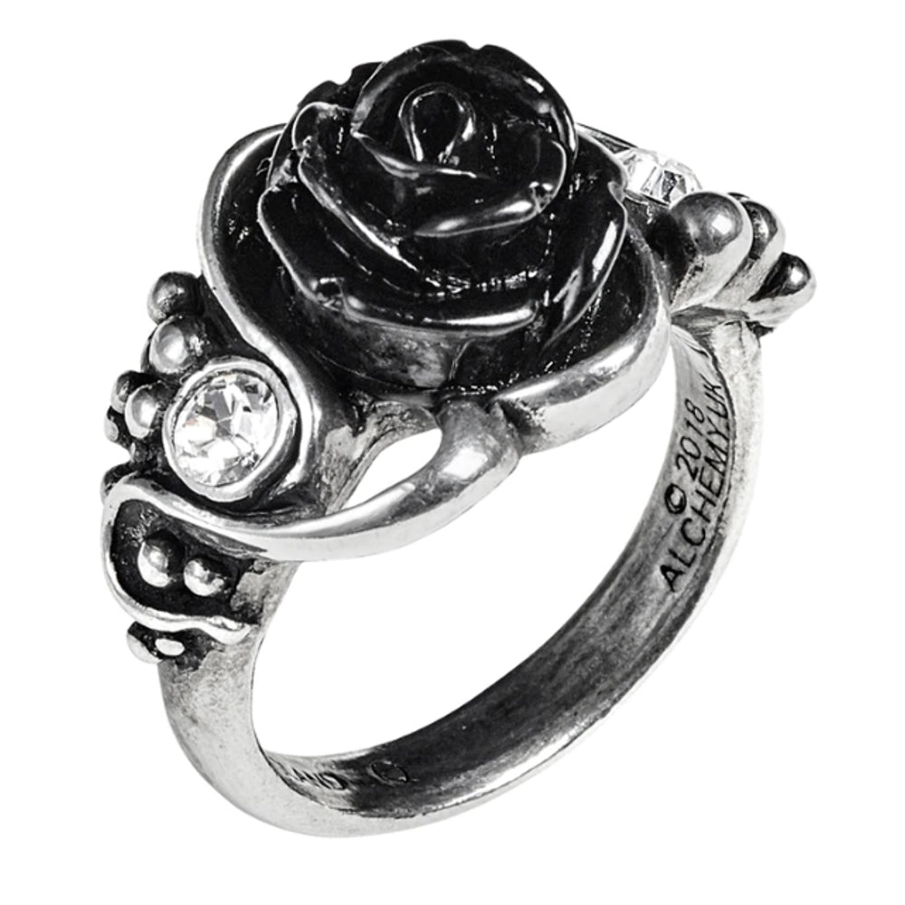 Bacchanal Black Rose Ring by Alchemy Gothic