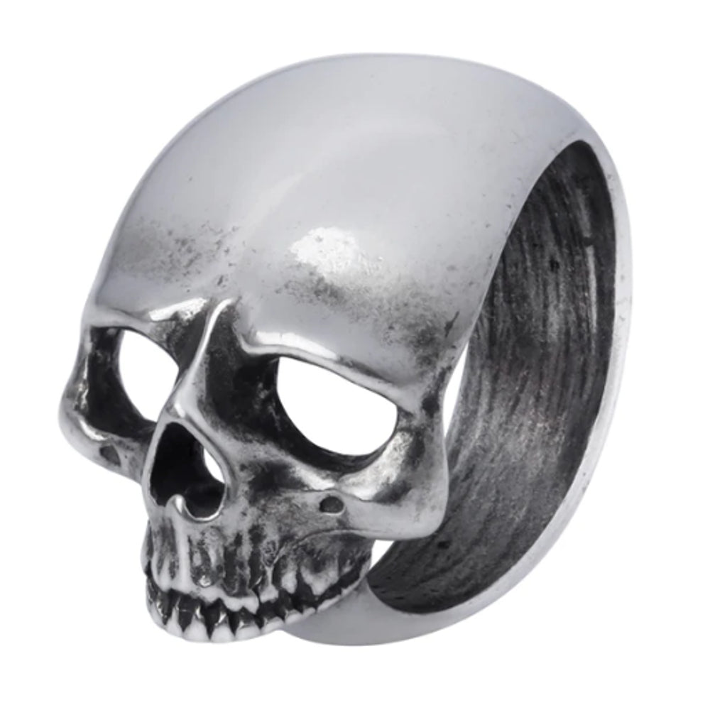 Schädel Schief Mens Pewter Skull Ring by Alchemy Gothic