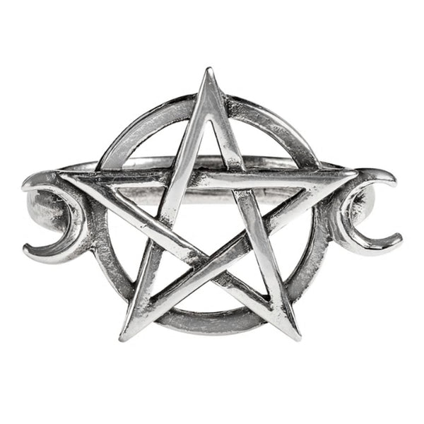 Goddess Wiccan Pentagram Ring by Alchemy Gothic