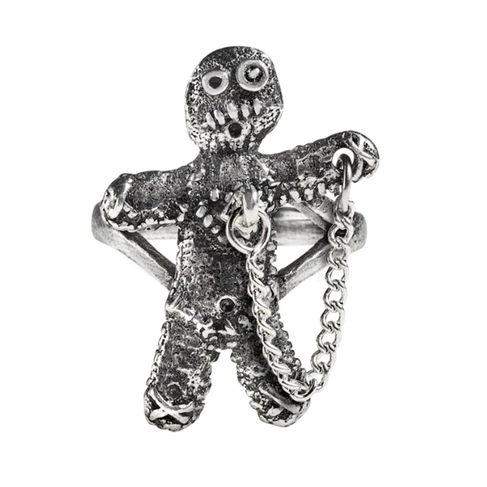 Voodoo Doll Ring by Alchemy Gothic