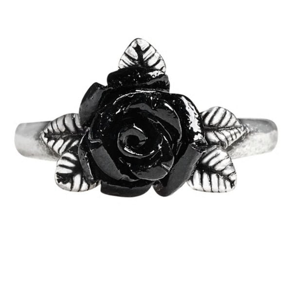 Token of Love Black Rose Ring by Alchemy Gothic