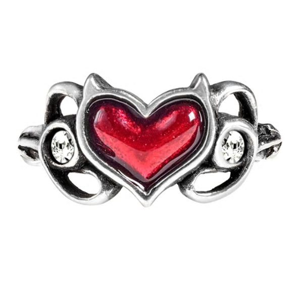 Little Devil Red Heart Ring by Alchemy Gothic