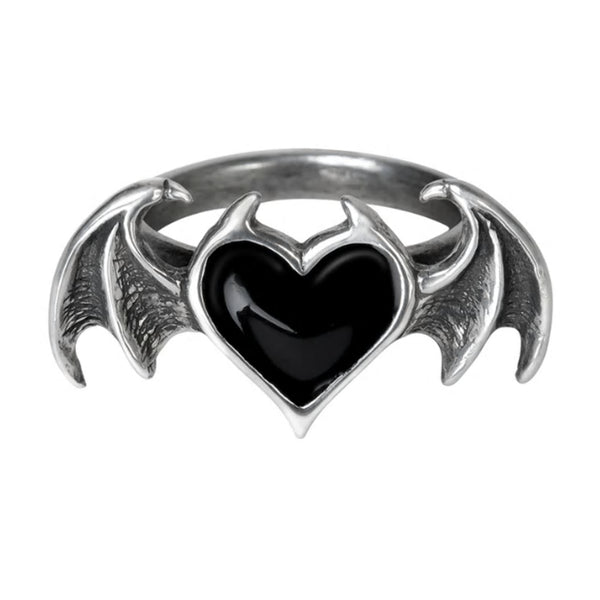 Black Soul Demon Heart Ring by Alchemy Gothic