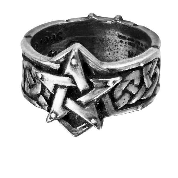 Celtic Theurgy Pentagram Ring by Alchemy Gothic