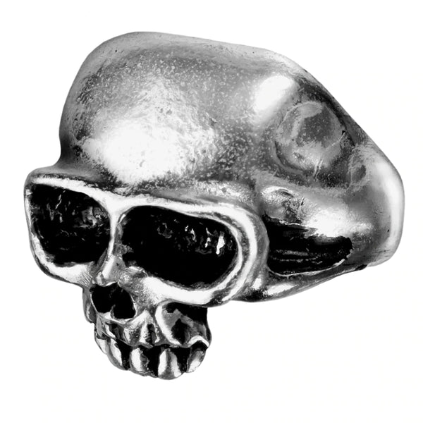 Death Skull Mens Pewter Ring by Alchemy Gothic