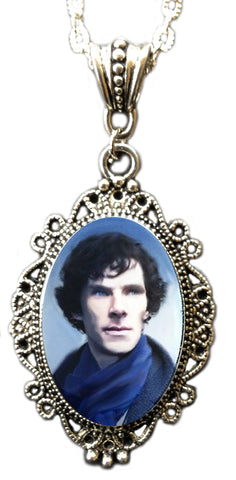 Alkemie Benedict Cumberbatch As Sherlock Holmes Cameo Necklace