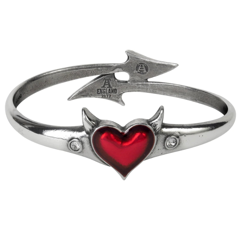 Devil Heart Bangle Bracelet by Alchemy Gothic