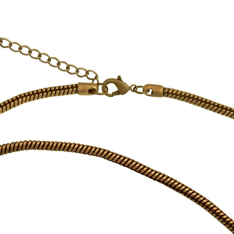 "Antique Brass 3.3mm Calypso Snake Chain Necklace with Extra Durable Protective Finish, 18""-20"""
