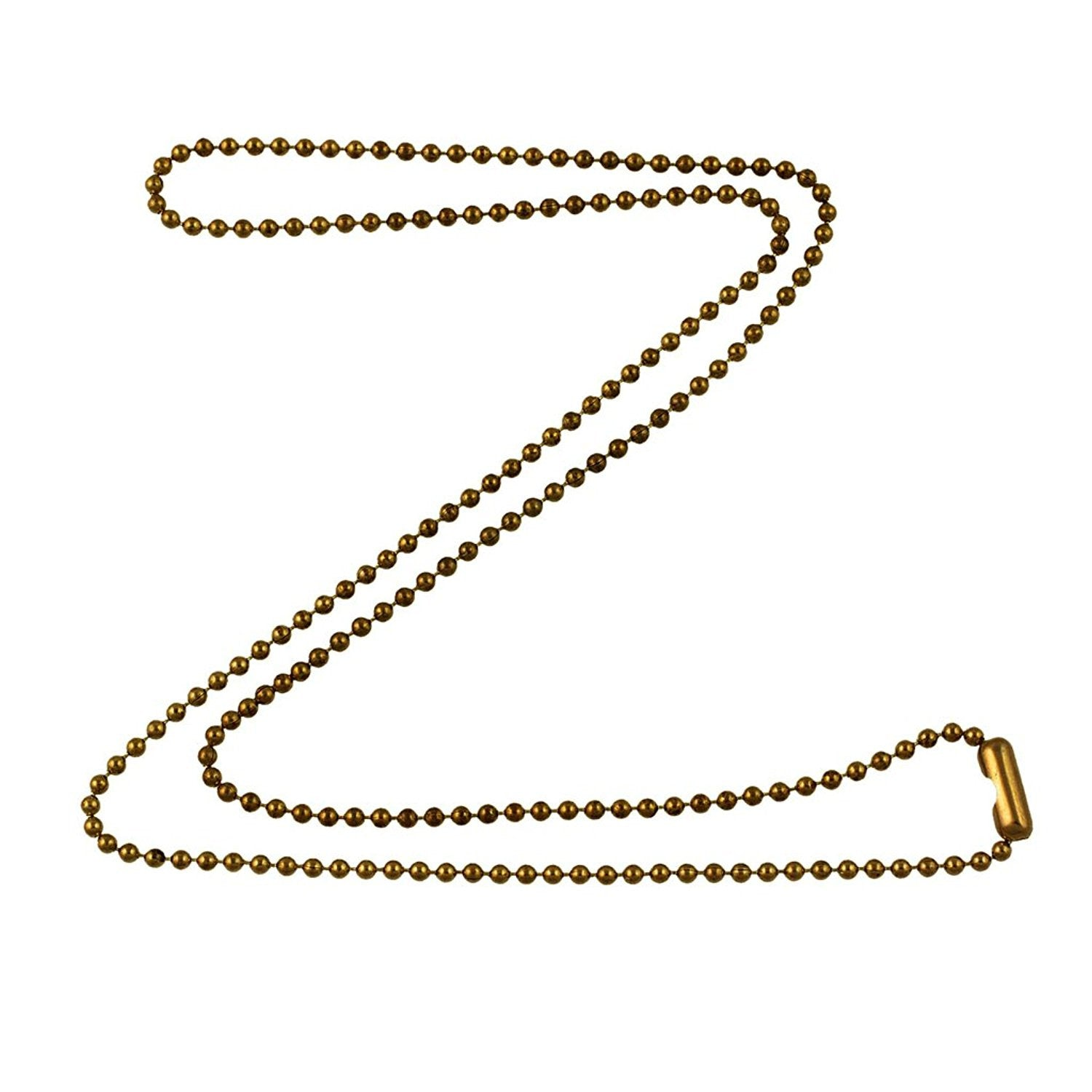 1 8mm fine antique brass ball chain necklace with extra durable