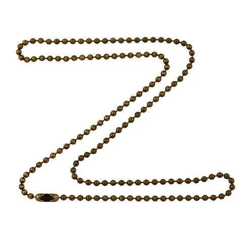 2.4mm Antique Brass Ball Chain Necklace with Extra Durable Color Protect Finish
