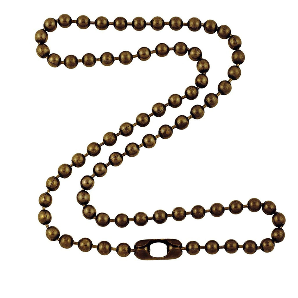 4.8mm Large Antique Brass Ball Chain Necklace with Extra Durable Color Protect Finish