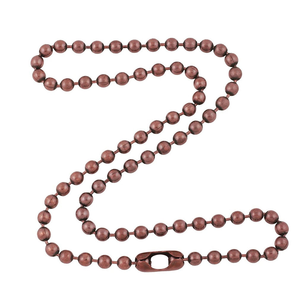 4.8mm Large Antique Copper Ball Chain Necklace with Extra Durable Color Protect Finish