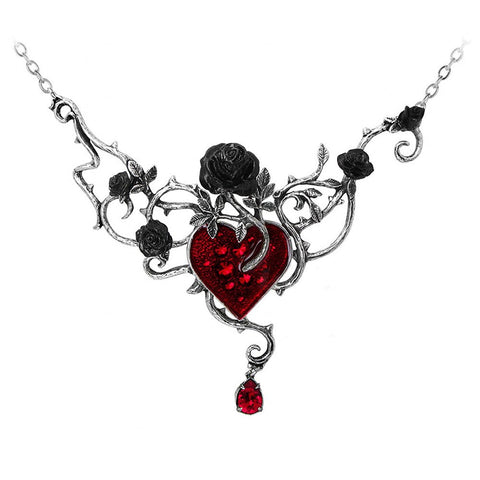 Bed of Blood Roses Choker Necklace by Alchemy Gothic