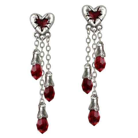 Bleeding Heart Earrings by Alchemy Gothic