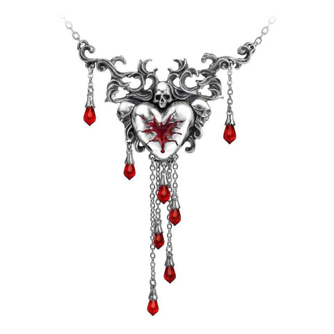 Bleeding Heart Necklace by Alchemy Gothic