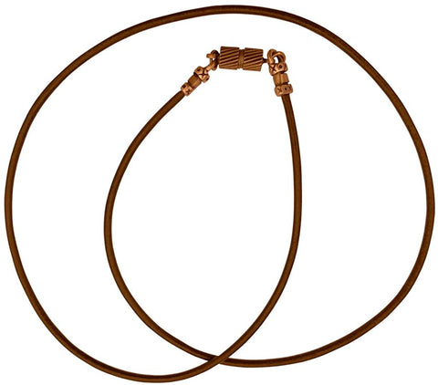 Antique Copper 1.8mm Fine Brown Leather Cord Necklace with Magnetic Clasp