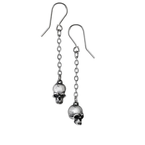 Deadskull Pair of Earrings by Alchemy Gothic