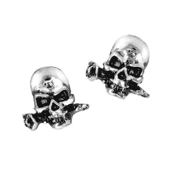Alchemist Skull Earrings by Alchemy Gothic