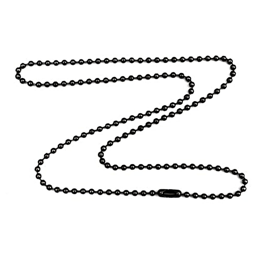 1.8mm Fine Gunmetal Plated Steel Ball Chain Necklace with Extra Durable Color Protect Finish