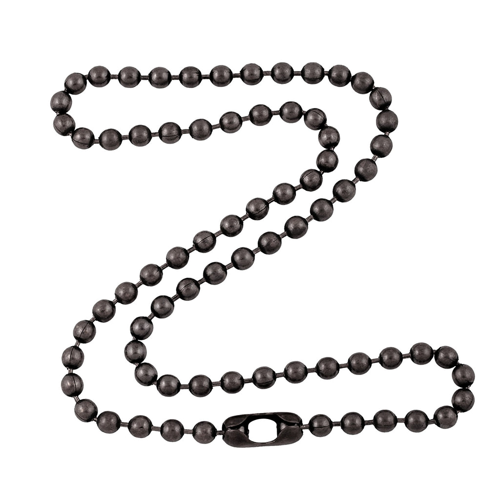 4.8mm Large Gunmetal Steel Ball Chain Necklace with Extra Durable Color Protect Finish