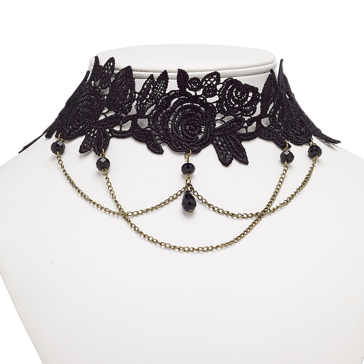 index statement black necklace