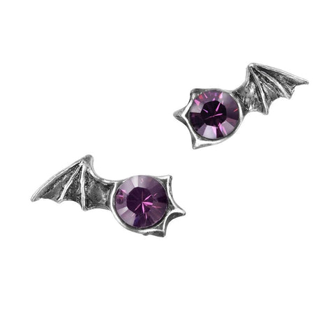 Matins Earrings Alchemy Gothic Bat Ear Studs