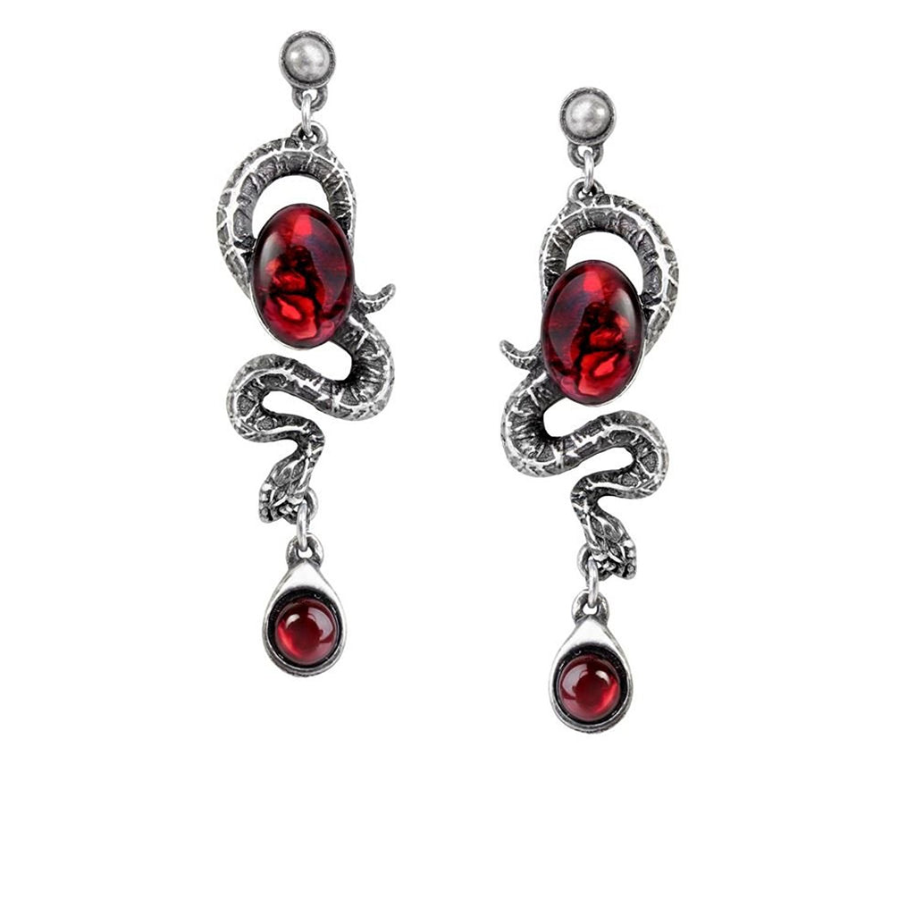 Serpents Eye Pair of Earrings by Alchemy Gothic