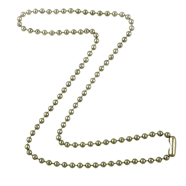 3.2mm Silver Tone Steel Ball Chain Necklace with Extra Durable Color Protect Finish