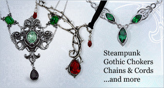 Steampunk, Gothic Chokers, Chains & Cords ...and more