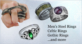 Men's Steel Rings, Celtic Rings, Gothic Rings ...and more