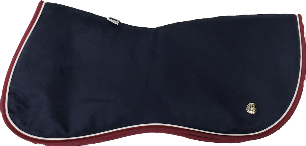Ogilvy Jump Half Pad - Midnight Blue / White / Burgandy