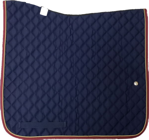 Ogilvy Dressage Baby Pad - Navy / Tan / Burgandy