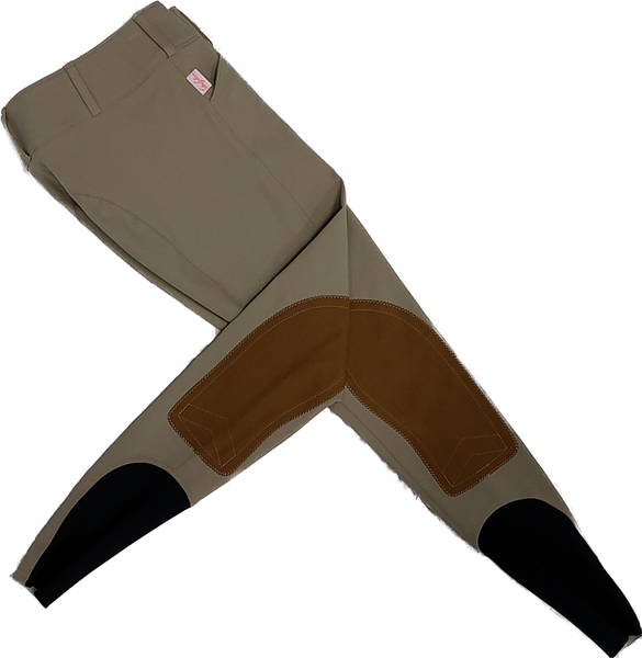 Tailored Sportsman Trophy Hunter Breeches - Tan with Sock Bottom