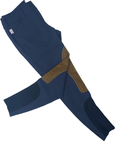 Tailored Sportsman Trophy Hunter Breeches - Sailor Blue with Sock Bottom