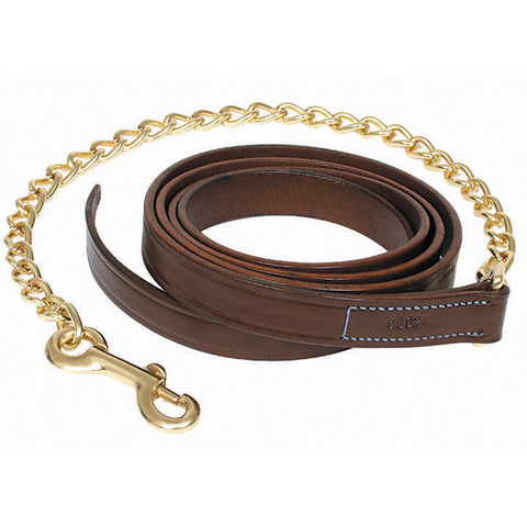"Walsh Leather Lead w/ 24"" Chain"