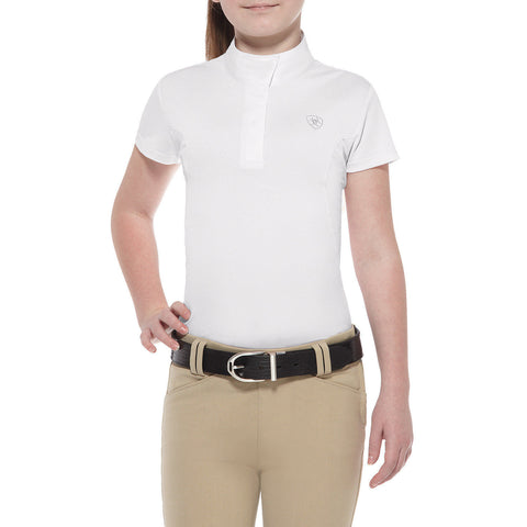 Ariat Kids Aptos Show Shirt - White