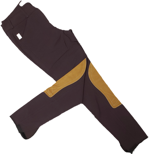Tailored Sportsman Trophy Hunter Breeches - Boysenberry w/ Tan Patches