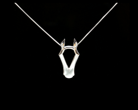 Designs By Loriece Horse Head Slide Necklace