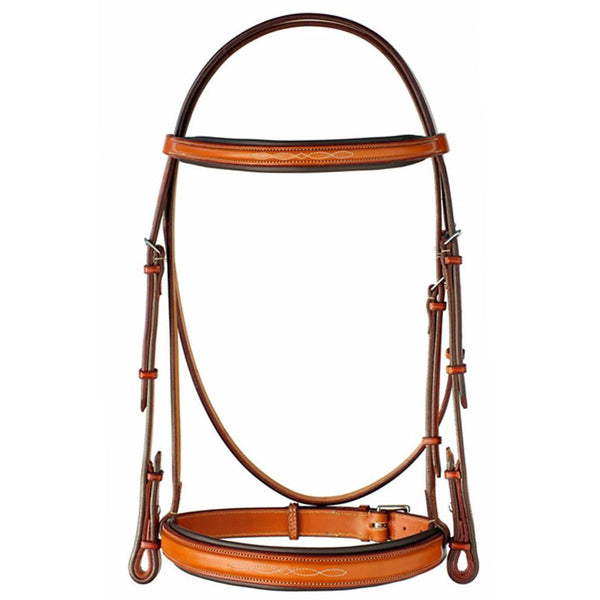 "Edgewood Leather 3/4"" Fancy Stitch Raised Bridle w/ Padded Crown"