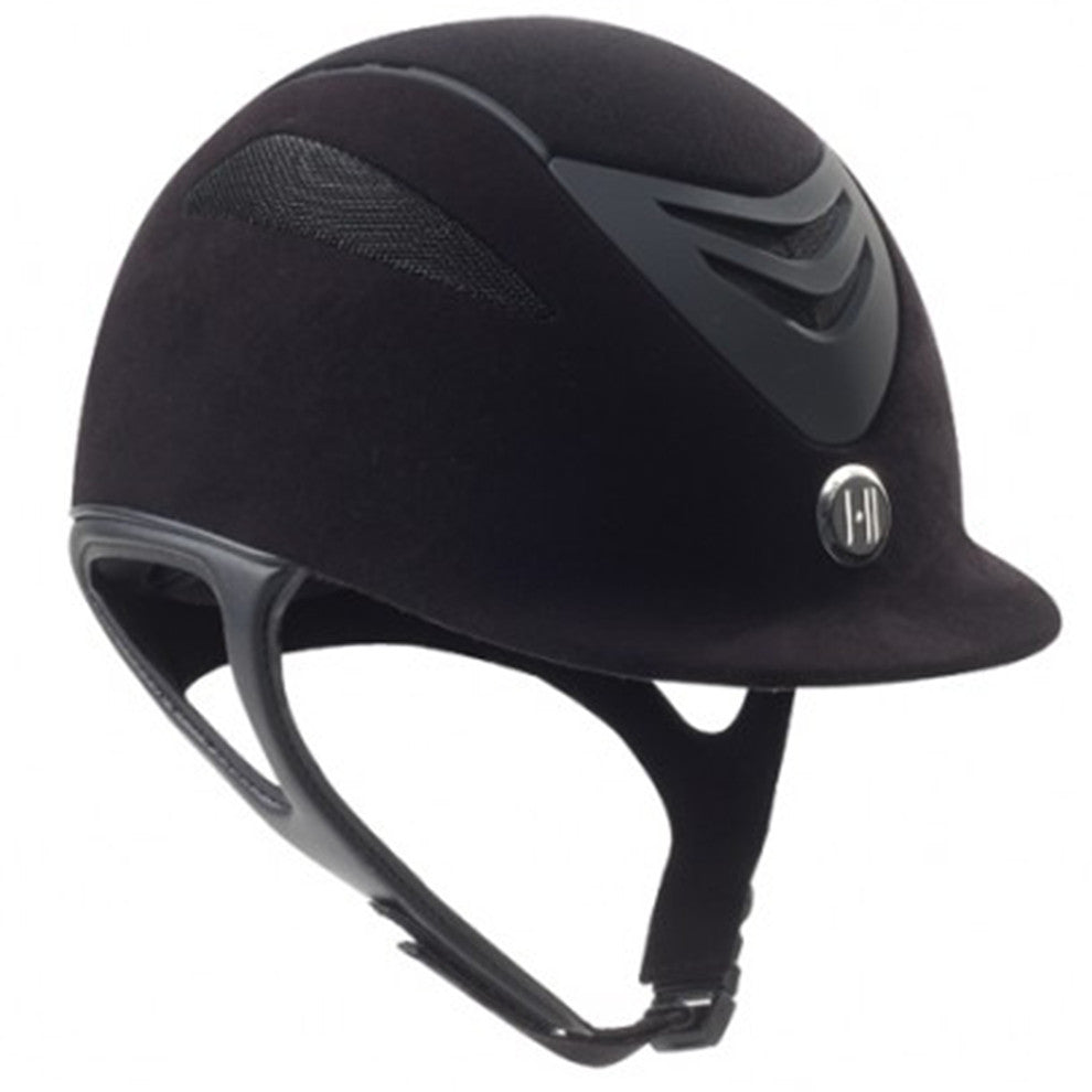 One K Defender Suede Riding Helmet - Black Matte