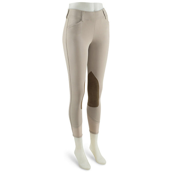 R.J. Classics Ladies Belmont Breeches - Sand w/ Brown Patches