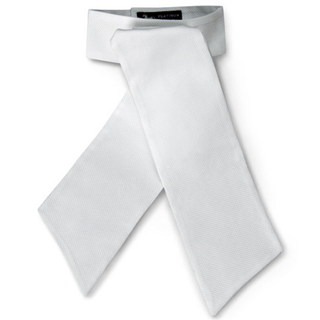 R.J. Classics Platinum Collection White Stock Tie - S120